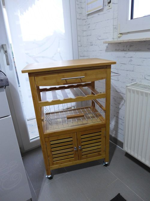 Bambus-Küchenwagen