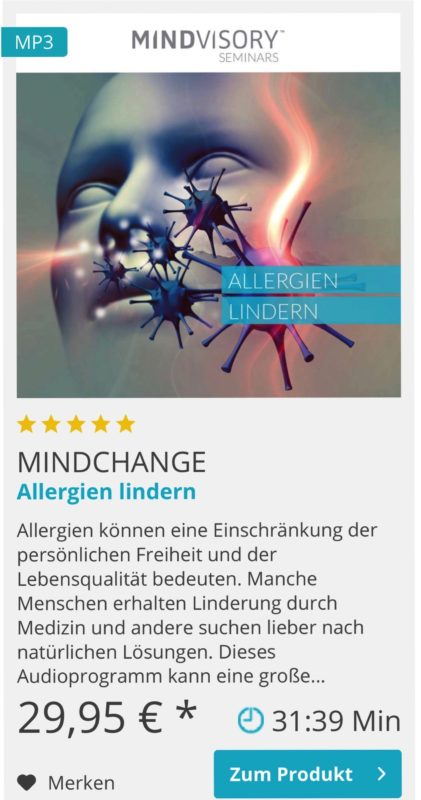 Mentaltraining Allergien lindern